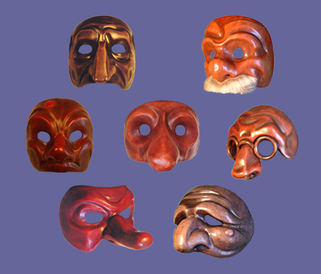 Masques de Commedia dell'arte